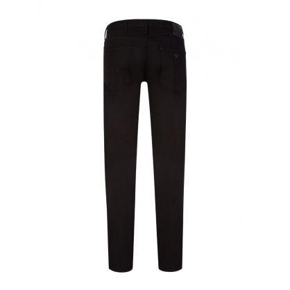 Black Denim Slim-Fit J06 Jeans