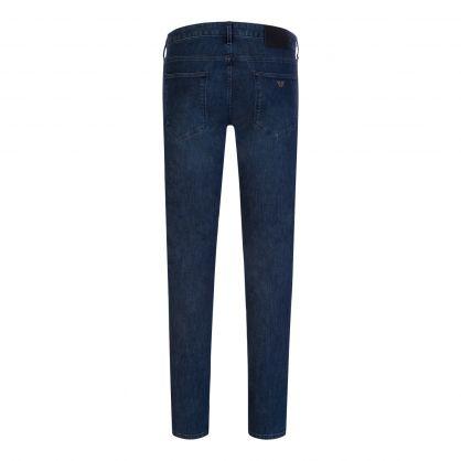 Navy Slim-Fit J06 Light Wash Denim Jeans