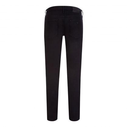 Black Slim-Fit J06 Comfort-Denim Twill Jeans
