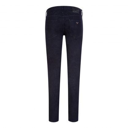 Navy Blue Slim-Fit J06 Light Wash Denim Jeans