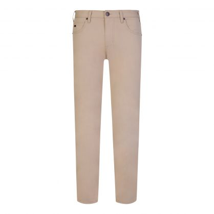 Beige J45 Regular-Fit Stretch-Gabardine Jeans