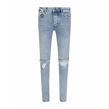 Blue Skinny-Fit Van Winkle Overkast Sliced Jeans