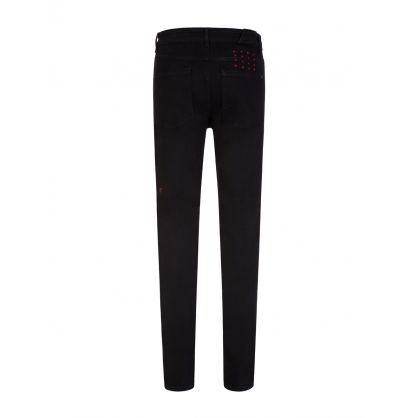 Black Slim-Fit Chitch Laid Back Jeans