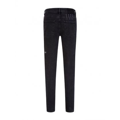 Black Skinny-Fit Van Winkle Burnout Trash Jeans