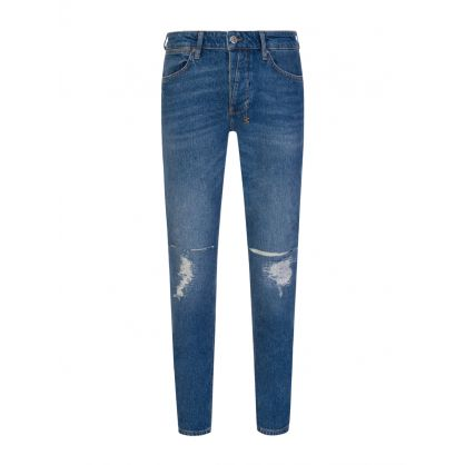 Blue Skinny-Fit Van Winkle Blazed Trashed Jeans