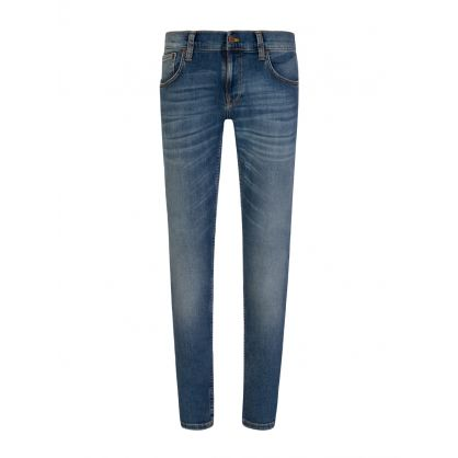 Steel Navy Tight Terry Jeans