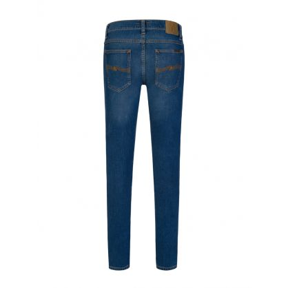 Blue Tight Terry Organic Jeans