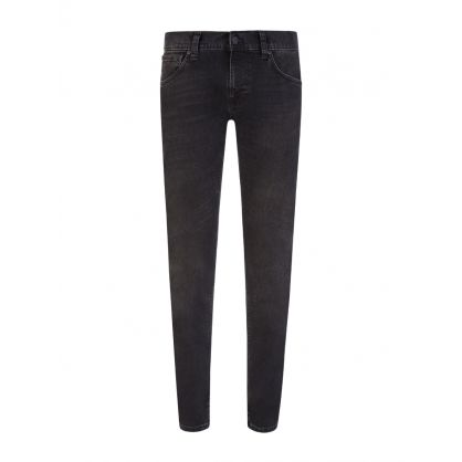 Black Nightrider Tight Terry Jeans