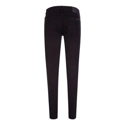 Black/Black Skinny Lin Jeans