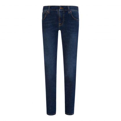 Navy Dark Symbol Tight Terry Jeans