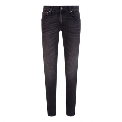 Black Evening Treat Tight Terry Jeans