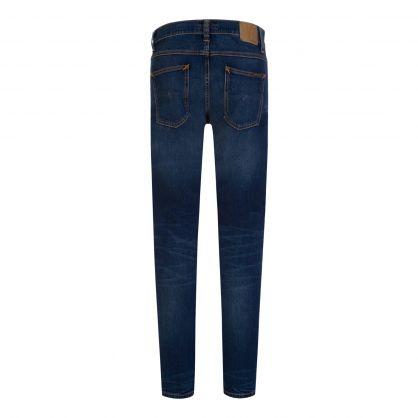 Blue Slim-Fit Lean Dean Worn Indigofera Jeans