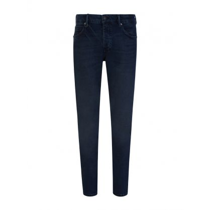 Navy 'Lou Slim' Twill Jeans