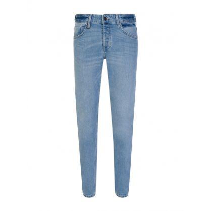 Blue 'Iggy Skinny' Tapered Jeans