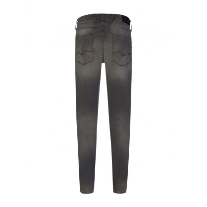Grey Anbass Hyperflex+ Broken & Repair Jeans