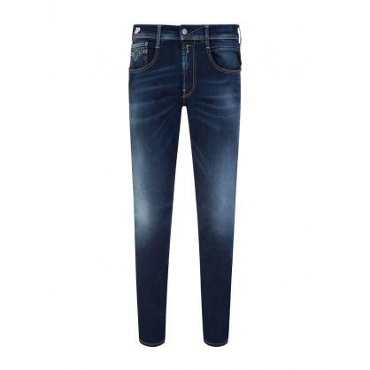 Dark Blue Anbass Hyperflex X.L.I.T.E. Re-Used Jeans