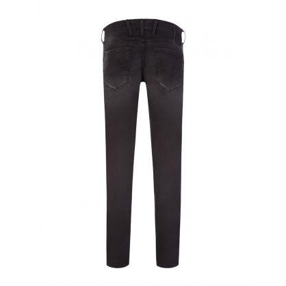 Black Slim-Fit Anbass Hyperflex X.L.I.T.E. Re-Used Jeans