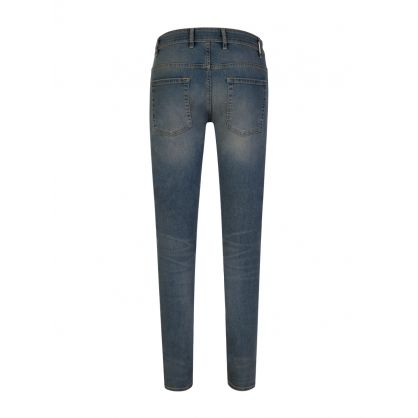 Light Indigo Skinny-Fit Destroyer Denim Jeans