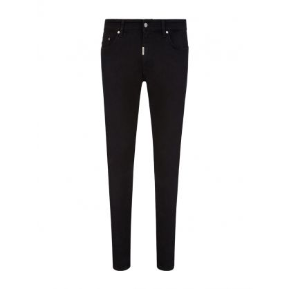 Black Skinny-Fit Essential Denim Jeans