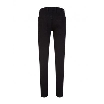 Black Skinny-Fit Essential Denim Jeans