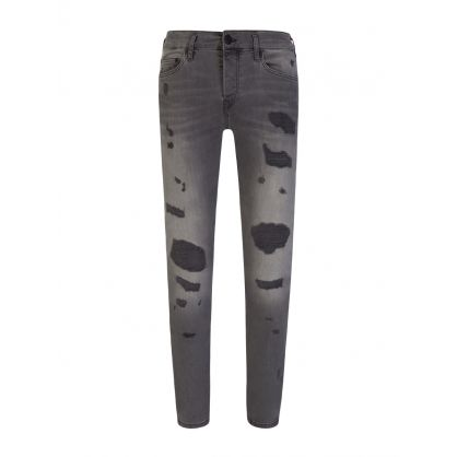 Grey Rocco Patch Traditional Jeans