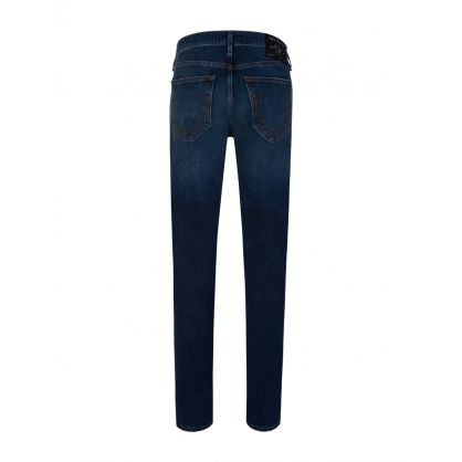 Blue Relaxed Skinny Fit Jeans