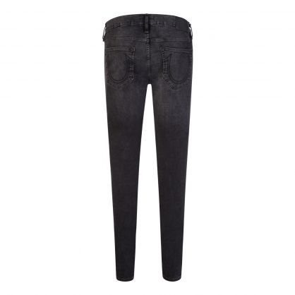 Black Skinny-Fit Destroyed Undertow Tony Jeans