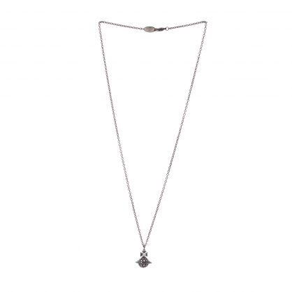 Silver/Black Orb Pendant Necklace
