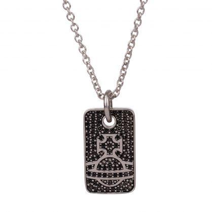 Silver/Black Fosco Pendant Necklace