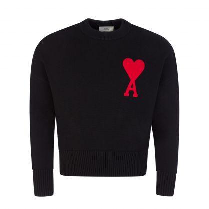 Black Ami de Coeur Knitted Jumper