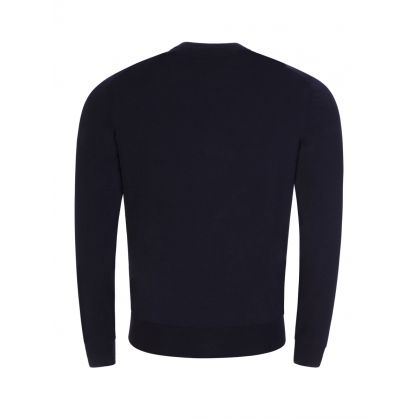 Navy Finest Italian Yarn Botto-L Knit Jumper