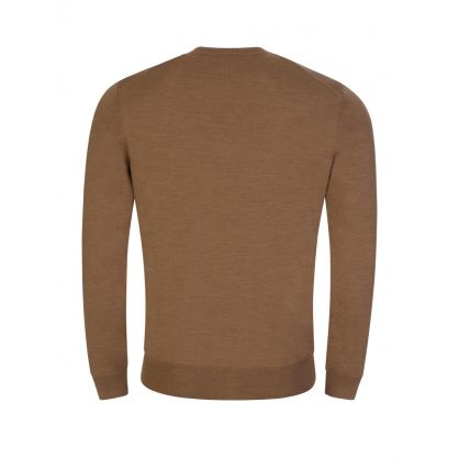 Beige Fine Italian Yarn Botto Knit Jumper