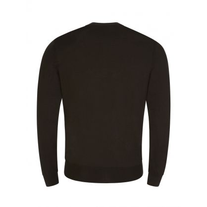 Green Finest Italian Yarn Botto-L Knit Jumper