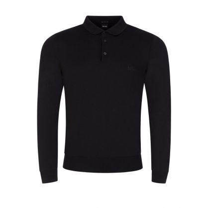 Black Bono Knitted Polo
