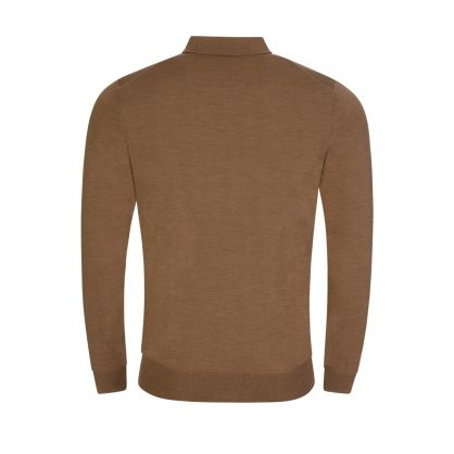 Brown Bono Polo Knit Jumper