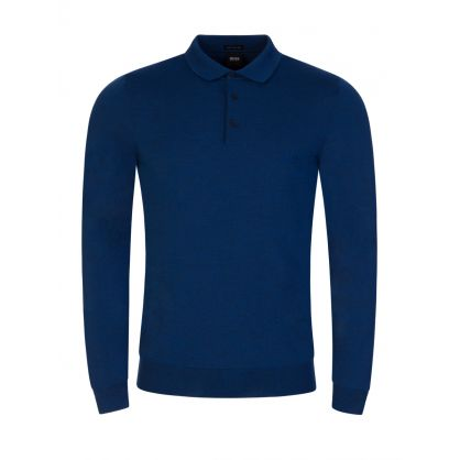 Navy Bono Knitted Polo Shirt