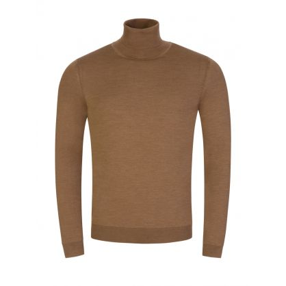 Brown Musso-P Roll Neck Jumper