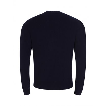 Navy Bacio Crew Neck Jumper