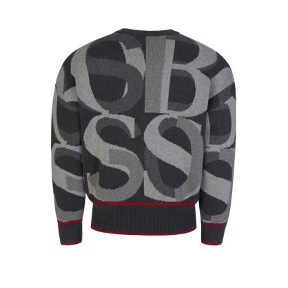 Grey Ponzi Jacquard Knitted Jumper