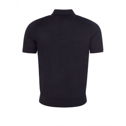 Dark Blue Palieri Knitted Polo Shirt