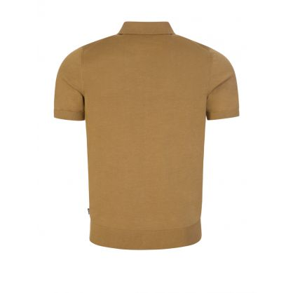 Beige Palieri Knitted Polo Shirt