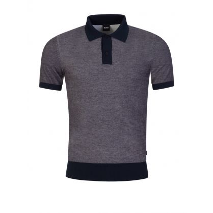 Grey Paggi Knit Polo Shirt