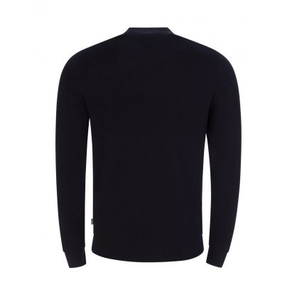 Dark Blue Paron Knitted Cardigan