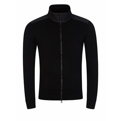 Black Kelby Zip Cardigan