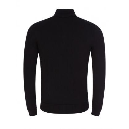 Black San Gottardo2 1/4-Length Zip Knit Jumper