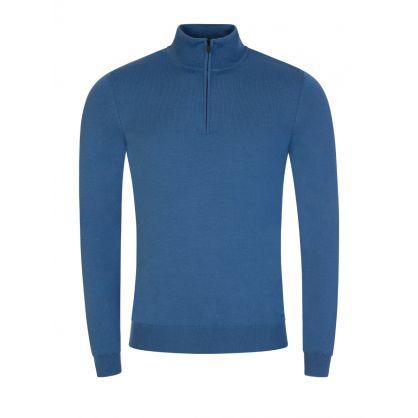 Blue 1/4-Zip San Gottardo2 Sweatshirt