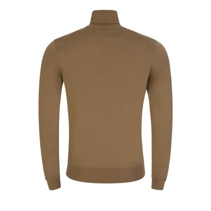Beige San Thomas 2 Funnel-Neck Jumper