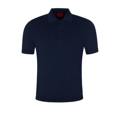 Navy San Sebastiano Knitted Polo Shirt
