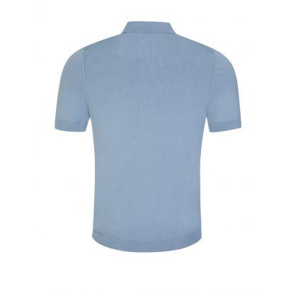 Blue San Sebastiano Knitted Polo Shirt