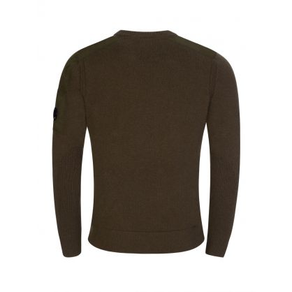 Green Mixed Lambswool Knitted Jumper